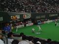 試合前の札幌ドーム