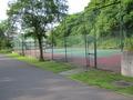 かんぽの宿のテニスコート