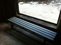 露天風呂脱衣所のベンチ