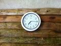 露天風呂脱衣所の時計