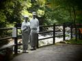 遊歩道途中の「伊豆の踊り子」像