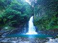 神秘的な早朝の大滝