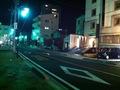 ホテル前の道