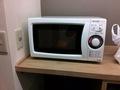 客室階サービスエリアの電子レンジ