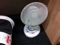 客室階サービスエリアの扇風機