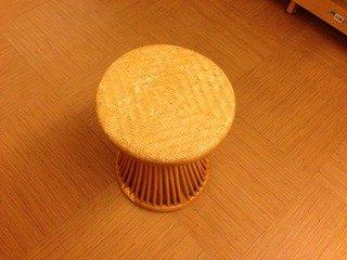 大浴場の籐椅子