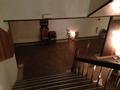 二階から一階への西側階段