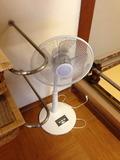 和風風呂脱衣所の扇風機