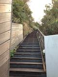 天上露天風呂「雲母」への階段