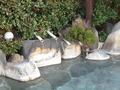 天空露天風呂「雲母」温泉の注ぎ口