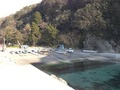 宿のすぐ前の漁港