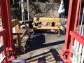 宿の近くの橋 ベンチが置かれている