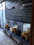 露天風呂2の洗い場(男女入れ替え制)