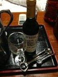 宿でお借りしたワインセット
