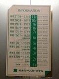 エレベーター内のフロア案内板