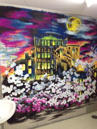共用トイレの壁画