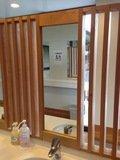 洗面所コーナーの鏡