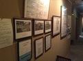 廊下の展示物