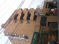 ホテル横手の全景(非常階段が見える)