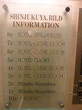 フロア案内図(1階エレベーターホール)