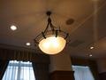 ロビー天井の照明