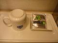 緑茶のティーバッグがひとつのみ