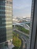 ゆりかもめの国際展示場正門駅から東京ビッグサイトへ向かう道