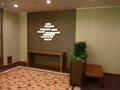 宴会場フロアの壁の飾り