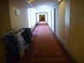 客室階の廊下(清掃の時間帯)