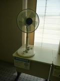 部屋にクーラーはあるのですが、扇風機も自由貸出し