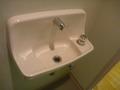 大浴場、脱衣所のトイレのミニ洗面