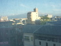 客室からの眺望(生駒の山並み)
