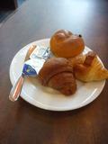 朝食のパンは3種類