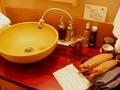 落ち着きのある洗面所
