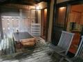 源泉かけ流しの部屋の露天風呂