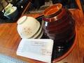 お茶碗にも桜のモチーフ