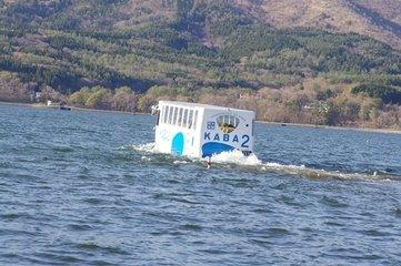 山中湖 水陸両用車