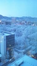 雪の札幌~ホテルの部屋から