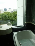 浴室には大きな窓