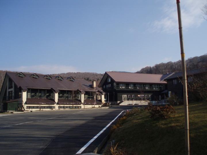 景色の良いコテージ風のホテル
