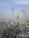東京スカイツリーがよく見えます。