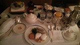 部屋食での朝食