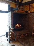 暖炉があります