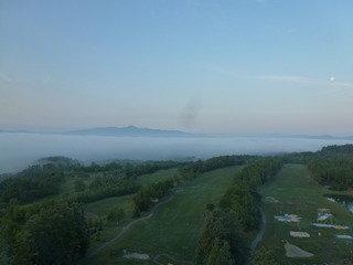 早朝の景色です