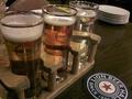 敷地内ビアホール(注文したビール)