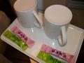 マグカップとお茶