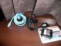 LANケーブルと携帯充電器