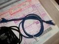LAN配線と携帯充電器
