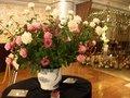 ロビーのバラの花