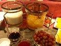 朝食バイキング(ヨーグルトとミックスフルーツ)